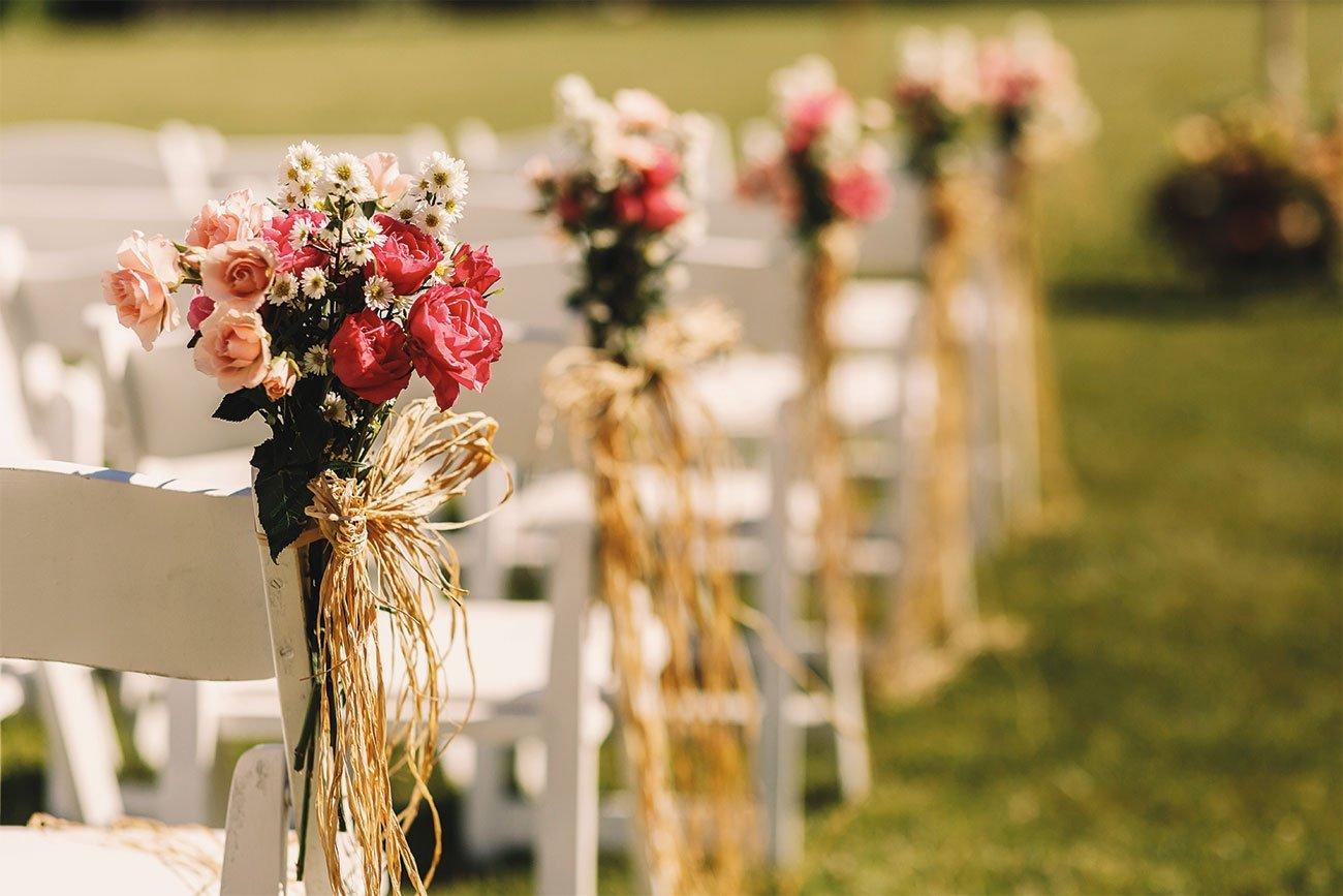 Decoración de bodas románticas en Sotogrande